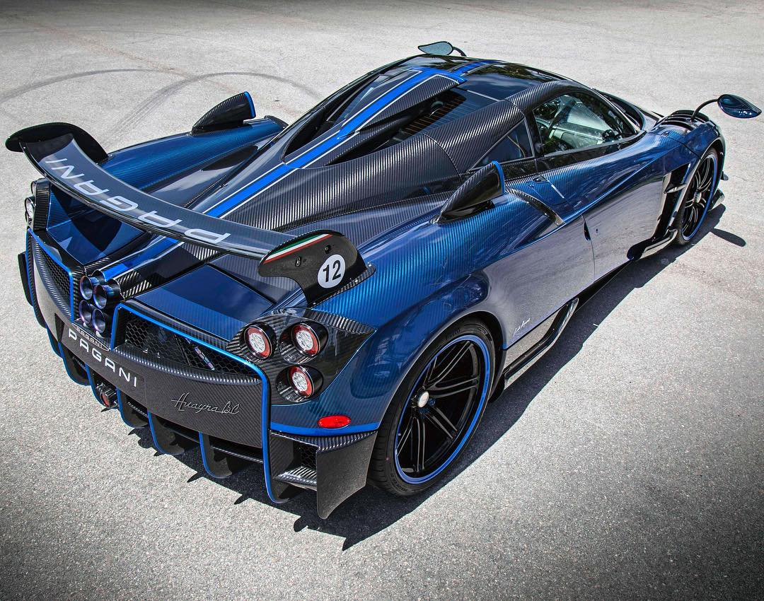 Bespoke Pagani Huayra Bc Finished In Blue Carbon Lands In