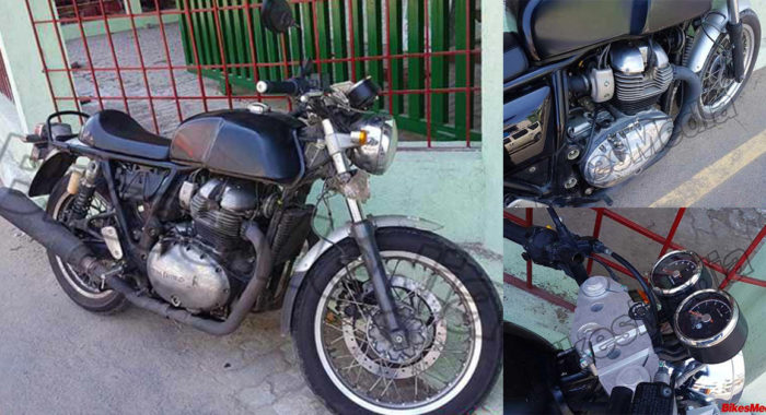 [Update: Video Added] Royal Enfield Continental GT With 750cc Twin Cylinder Engine : Clearest Images Yet
