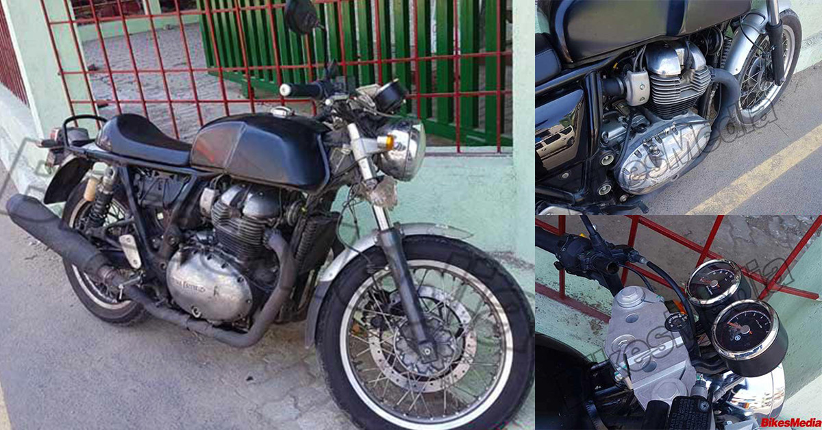 Update Video Added Royal Enfield Continental Gt With 750cc Twin Cylinder Engine Clearest Images Yet Motoroids