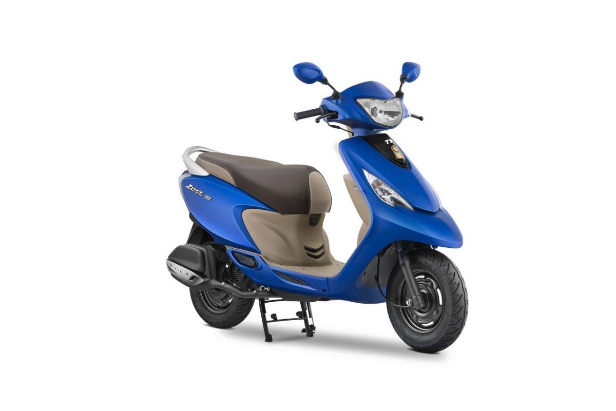 TVS Scooty Zest 110 Matte Blue