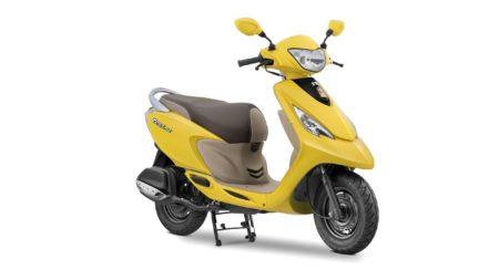 TVS Scooty Zest 110 Matte yellow