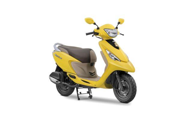 TVS-Scooty-Zest-110-Matte-yellow-600x400