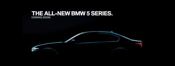 2017 BMW 5-Series Teaser side profile