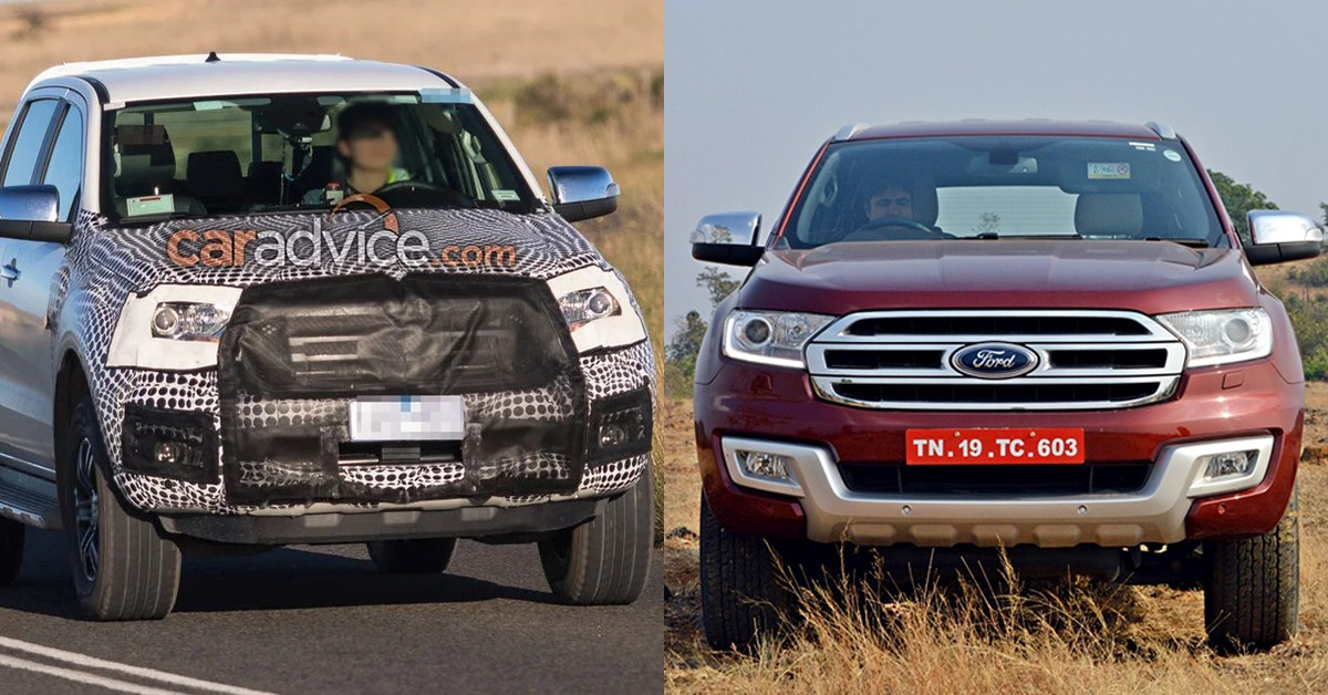 Spied Ford Endeavour Facelift Snapped In Australia Motoroids