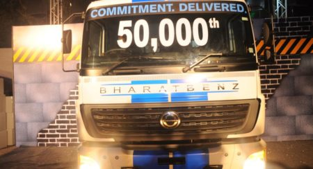 Bharat Benz 50,000th truck (1)