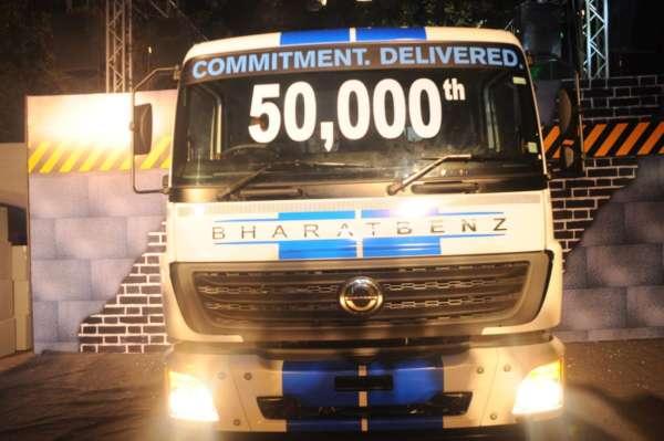 Bharat-Benz-50000th-truck-1-600x399
