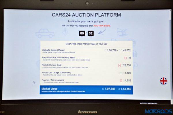 CARS24 car auction platform