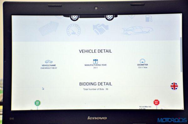 CARS24 car bidding