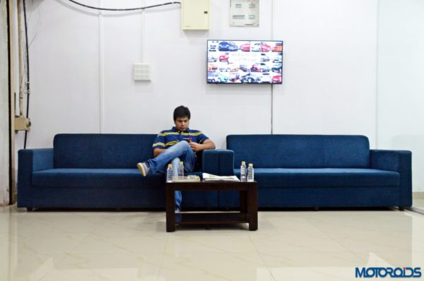 CARS24 office waiting area