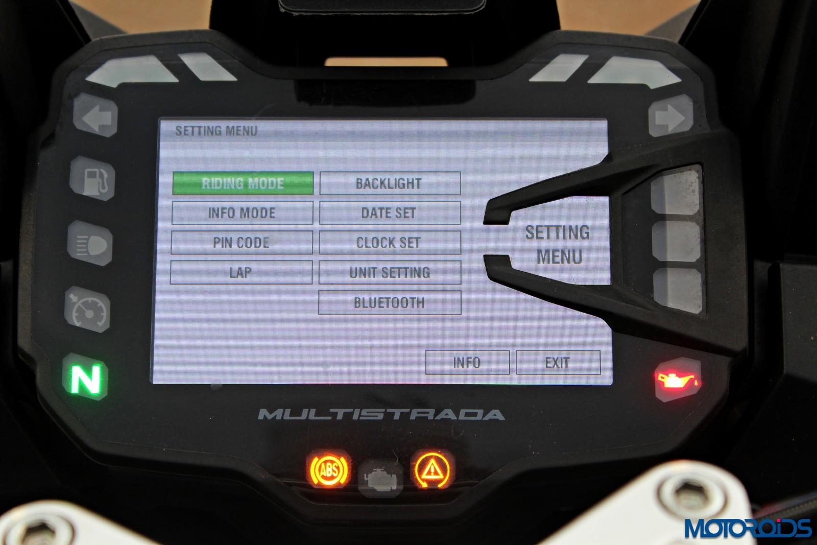 Multistrada Pin Code Start