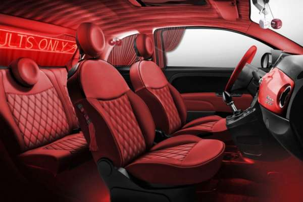 Fiat 500 kamaSutra red interiors