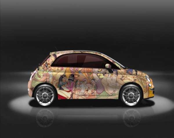 Fiat 500 kamaSutra uncensored side profile