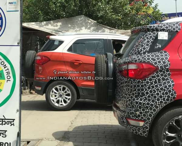Ford EcoSport Dual Tone spied side profile