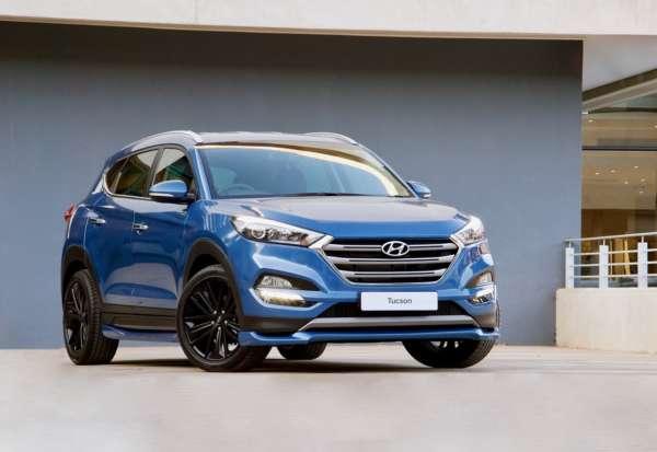 Hyundai Tucson Sport blue front