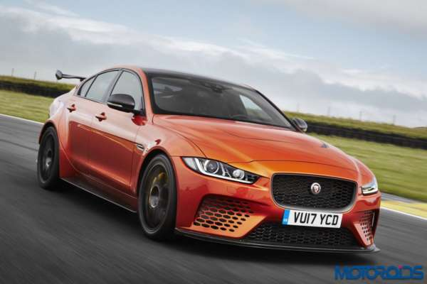 Jaguar XE SVO Project 8 action shot