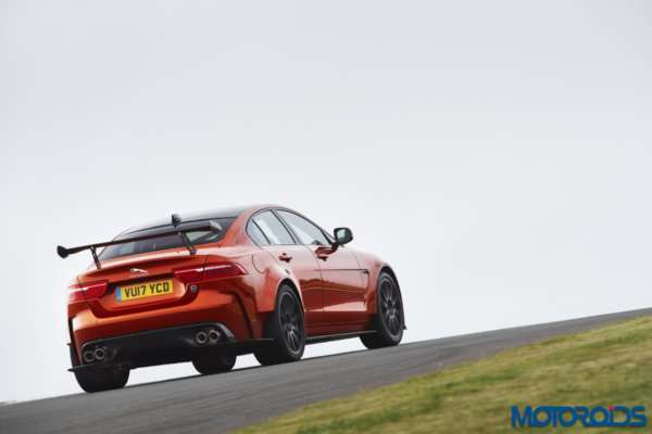 Jaguar XE SVO Project 8 rear action shot