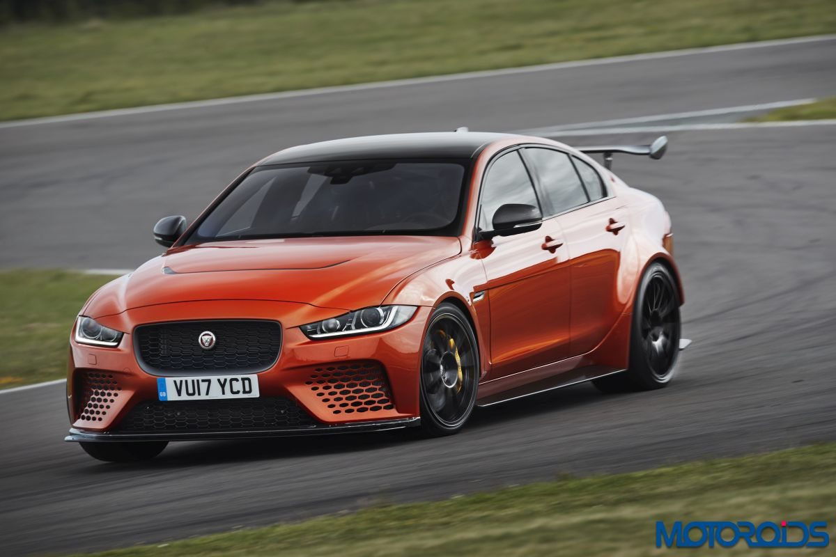 Jaguar XE SVO Project 8 side action shot