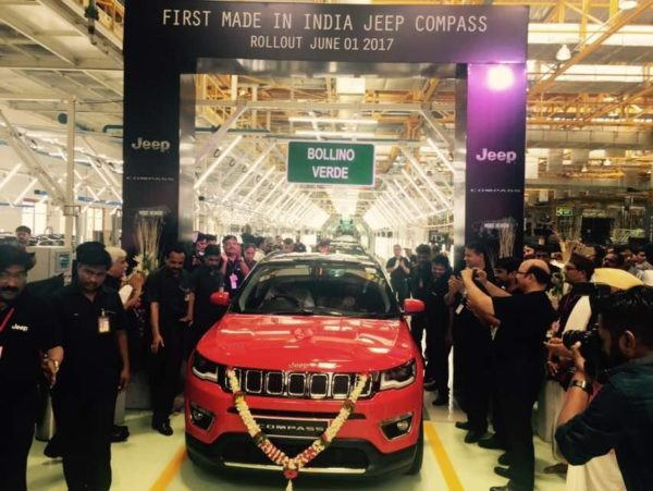 India-spec Jeep Compass Production begins
