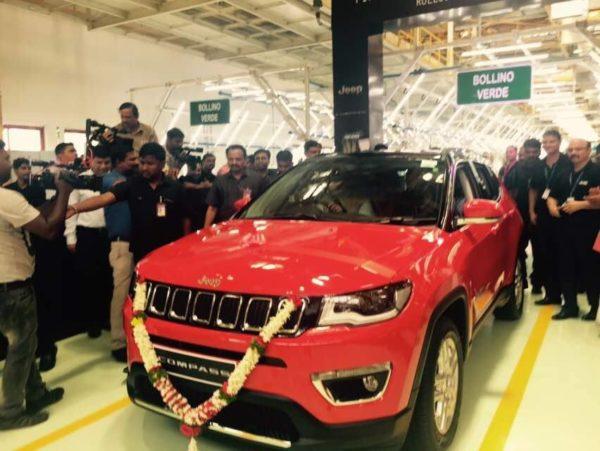 India-spec Jeep Compass Production line