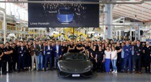 Lamborghini Huracan 8000 units production milestone