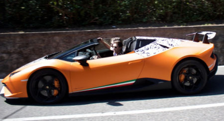 Lamborghini Huracan Performante Spyder spied testing close-up