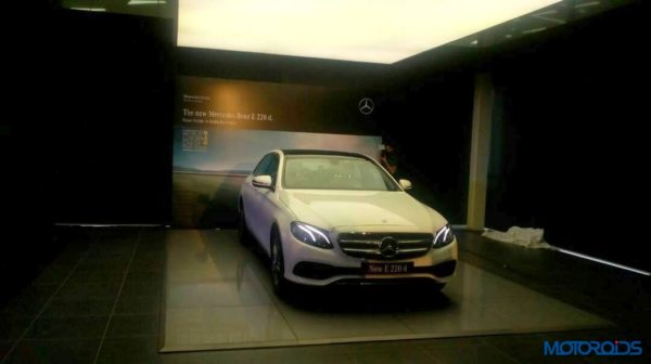 Mercedes-Benz E220d LWB India launch front side profile