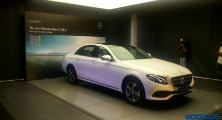 Mercedes-Benz E220d LWB India launch white side profile