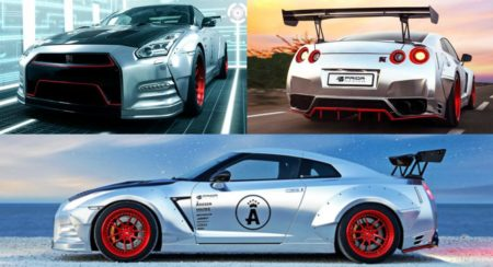 Modified Nissan GT-R collage