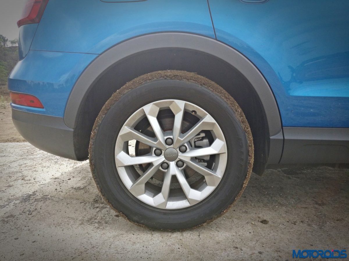 New 2017 Audi Q3 facelift wheel and tyres