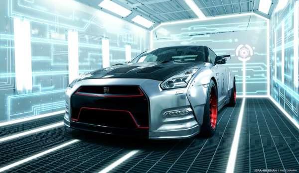 Nissan-GT-R-Matte-Silver-Chrome-wrap-front-profile-600x348
