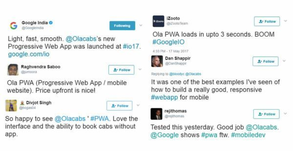 Ola Online Booking Response