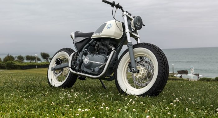 Custom Built Royal Enfield Gentleman Brat Showcased At 2017 Wheels And Waves