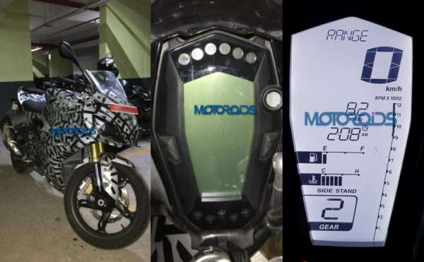 TVS Apache RR 310S instrument cluster collage