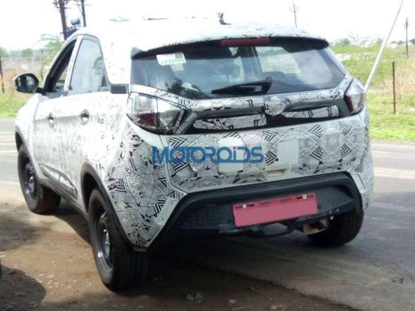 Tata Nexon Spied testing rear profile