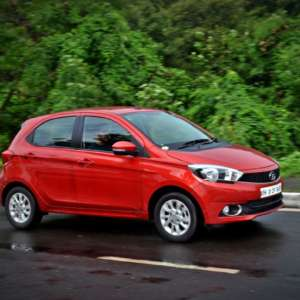 Tata Tiago AMT action shot front three quarter