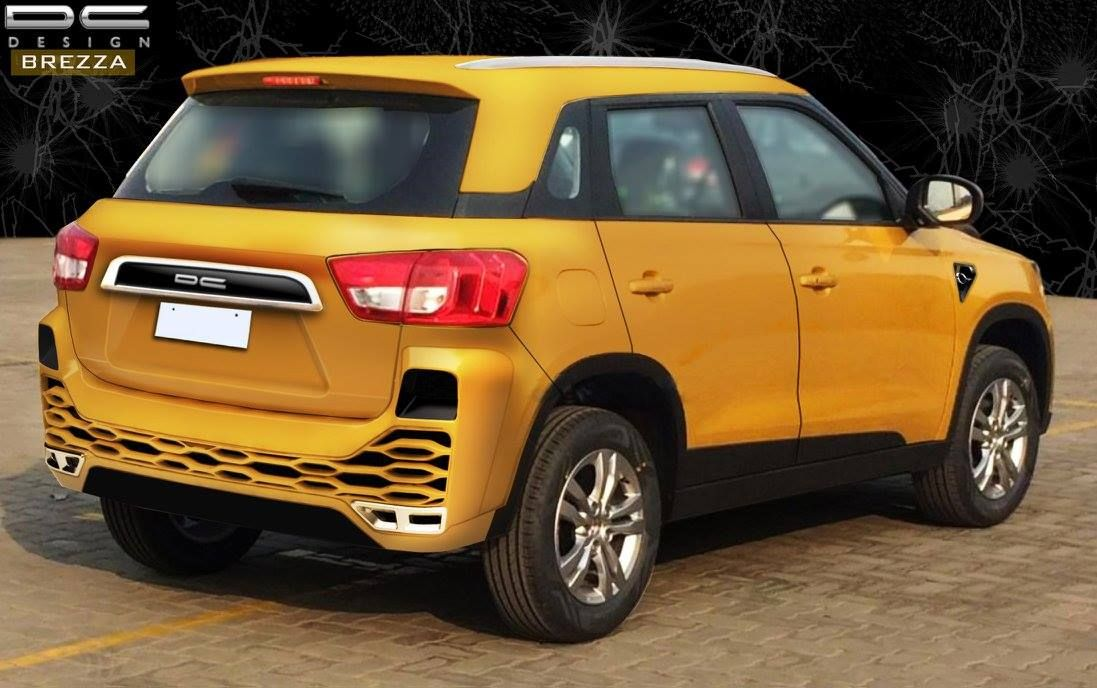 dc design s bold maruti vitara brezza detailed in new images motoroids. Black Bedroom Furniture Sets. Home Design Ideas