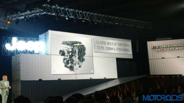 Jeep Compass India launch diesel engine