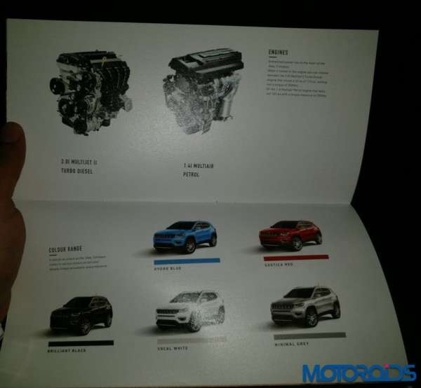 Jeep Compass India launch engine and colour options