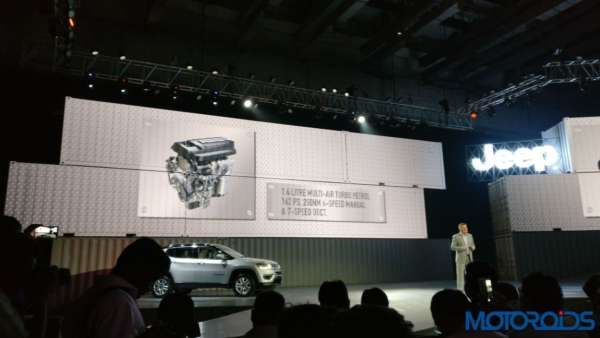 Jeep Compass India launch petrol engine