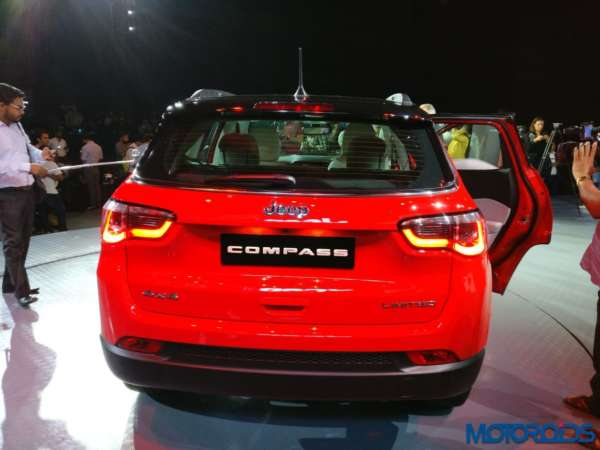 Jeep Compass launched in India rear profile