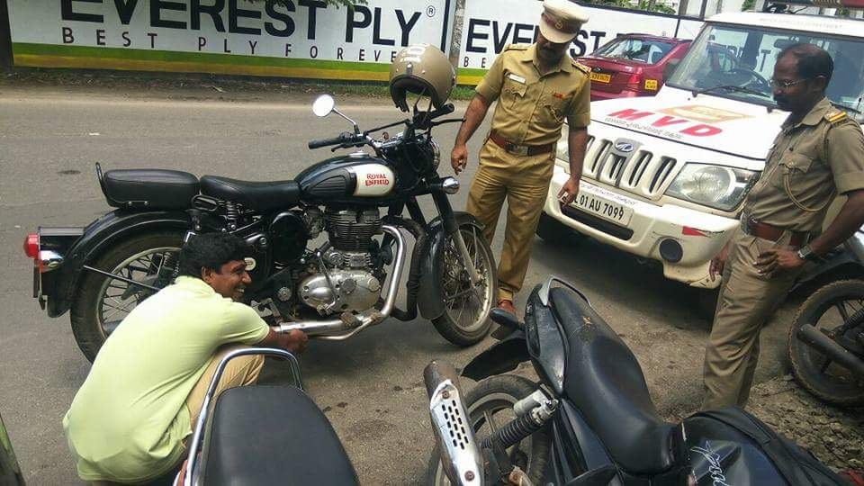 Kerela-Cops-Crack-Down-And-Destroy-Illegal-Exhausts-On-Via-FBMotorcycles-1