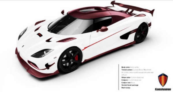 Koenigsegg Agera RS finished in Pink Carbon Fibre front
