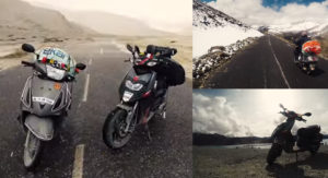 Rider Duo Explore Ladakh On Aprilia SR 150 And TVS Jupiter Scooters