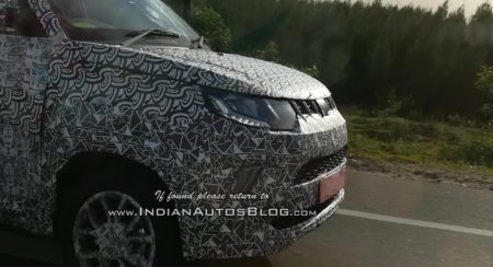 Mahindra KUV100 Facelift Spotted On Test 02
