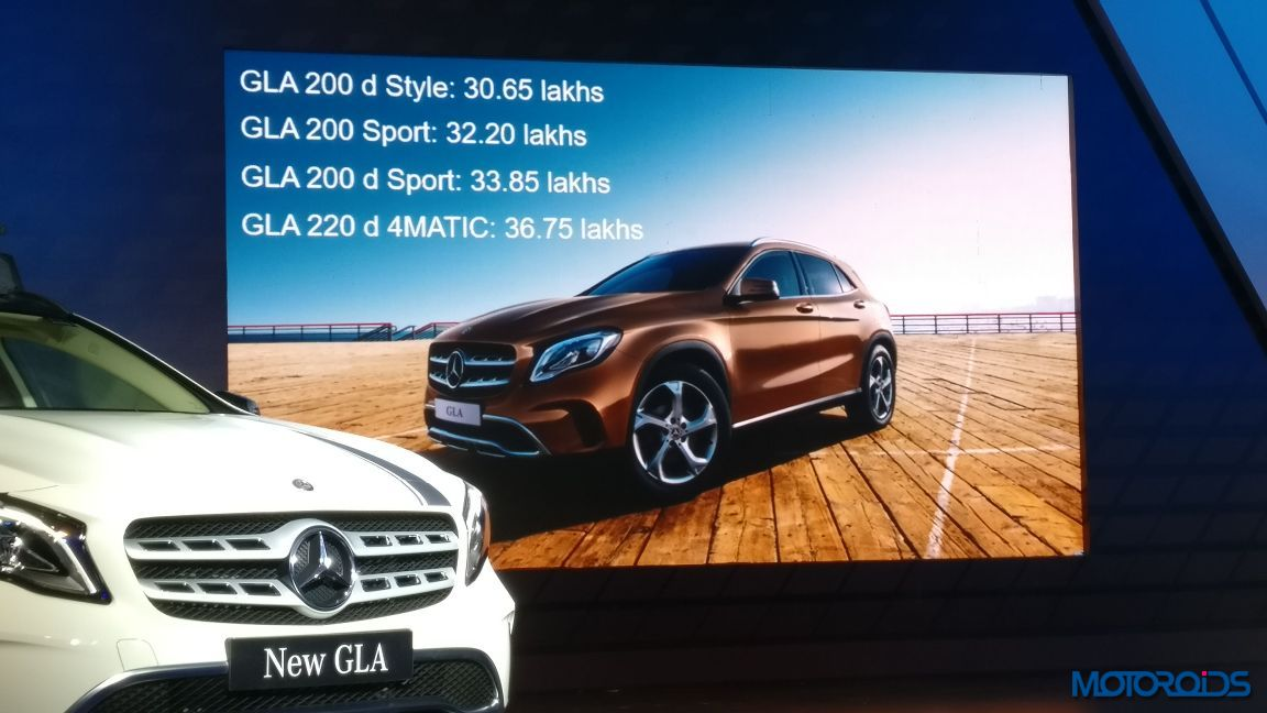 Live new mercedes benz gla facelift india launch details for Mercedes benz prices in india