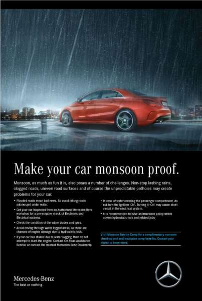 Mercedes-Benz Monsoon campaign