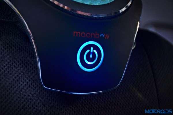 Moonbow Car Air Purifier blue light