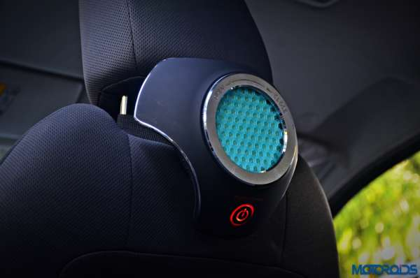 Moonbow Car Air Purifier side angle green