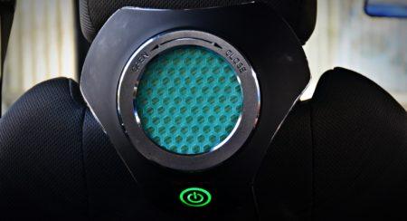 Moonbow Car Air Purifier static shot green