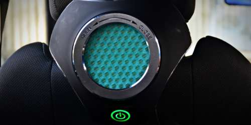 Moonbow Car Air Purifier static shot green